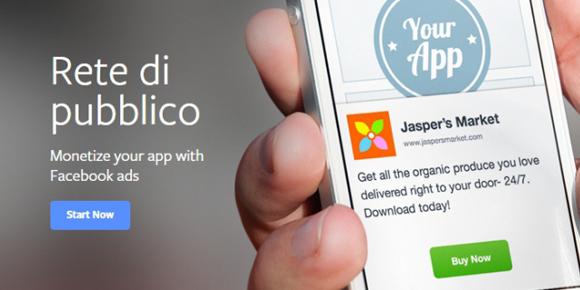 Facebook presenta la sua piattaforma di mobile advertising