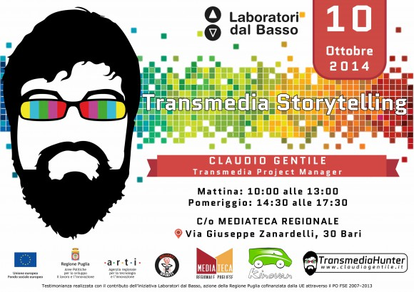 Transmedia storytelling, la diretta streaming con Claudio Gentile