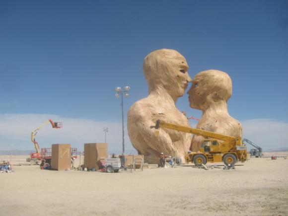 statua del Burning Man
