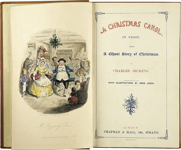 Prima Edizione di A Christmas Carol di Charles Dickens, da Wikipedia.