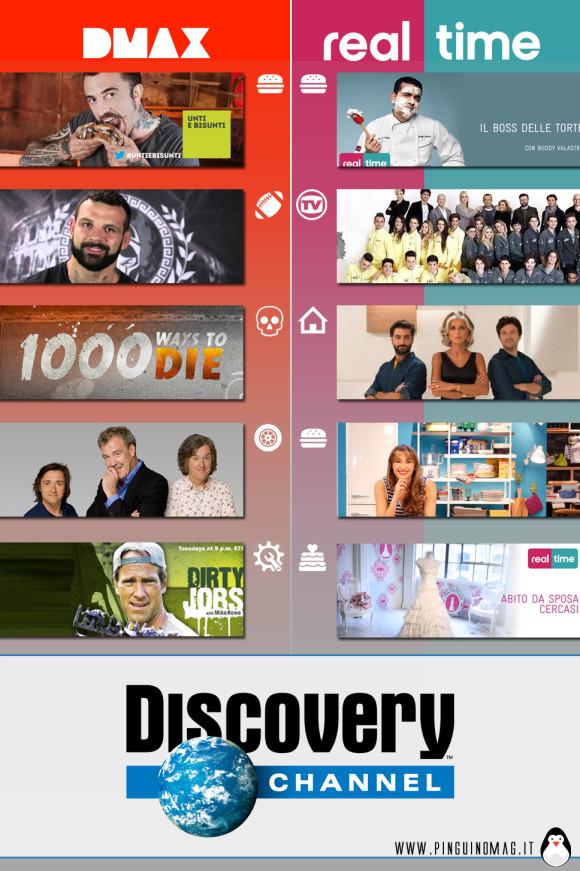 Discovery Channel e il target di genere di Dmax e Real Time  (1)