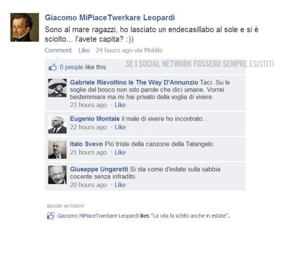 Se i social network fossero sempre esistiti, Manzoni e Leopardi sul web [INTERVISTA] (1)