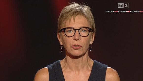 La giornalista Milena Gabanelli durante la trasmissione Report