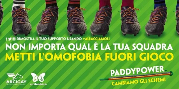 Un calcio all'omofobia, Paddy Power torna in campo