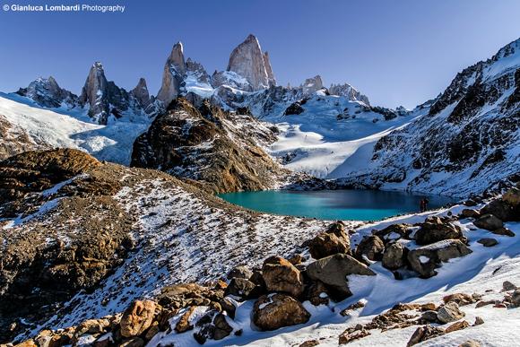 Il congedo nel tardo pomeriggio, Laguna de Los Tres e Cerro El Chaltén (o Fitz Roy), Parque Nacional Los Glaciares (Santa Cruz, Patagonia Argentina)