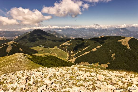 Piani di Ruggio visto dalla Cima del Serra del Prete