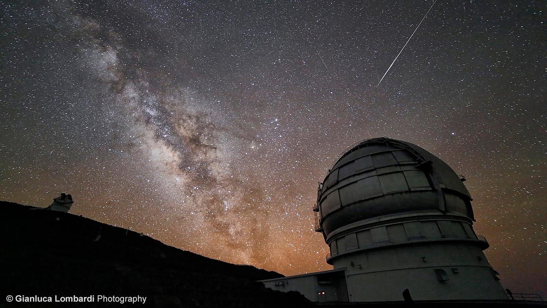 Il Telescopio GranTeCan e la Via Lattea - Foto di Gianluca Lombardi