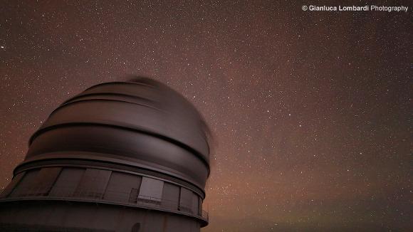 Il telescopio GranTeCan in azione - Foto di Gianluca Lombardi