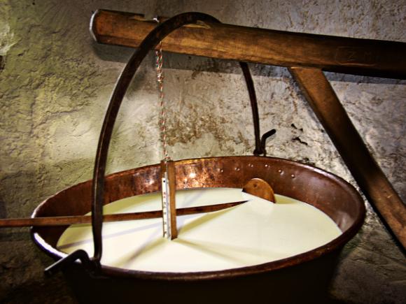 Produzione formaggi - Foto da http://www.palazzoroccabruna.it/SiteCollectionImages/Osservatorio/formaggio%20Malga_01.jpg
