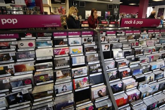 negozio di dischi uscite discografiche