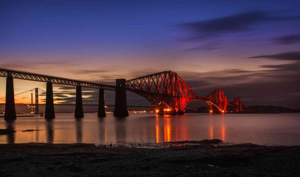 Dettaglio del Forth Bridge vicino ad Edimburgo - Foto di Vito Grittani