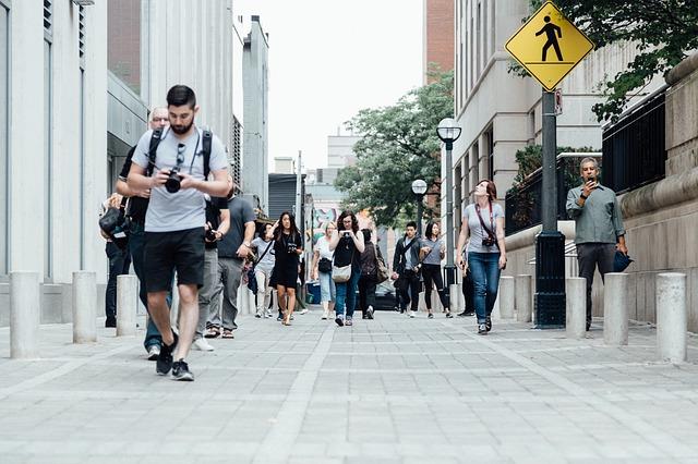 modo di camminare corretto