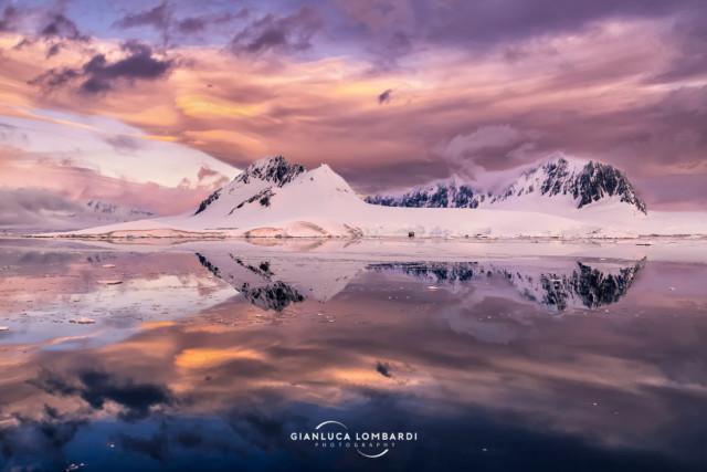 [24 Novembre 2015] Questo è il tramonto che ho sognato tutta la vita. Fief Range di Wiencke Island (Arcipelago di Palmer, Penisola Antartica).