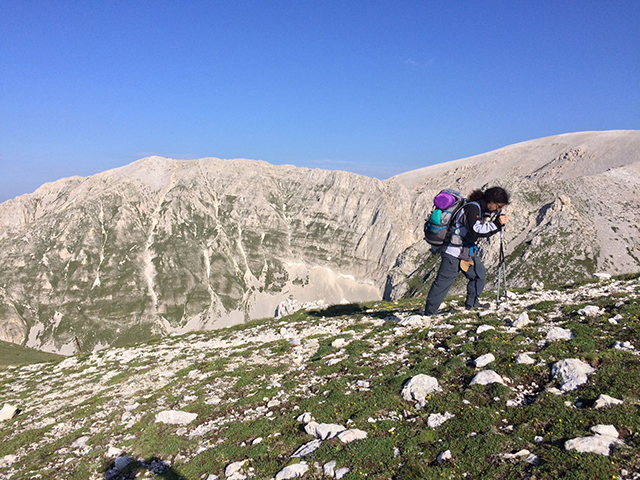 Salendo verso il Monte Focalone - Foto di Vito Grittani