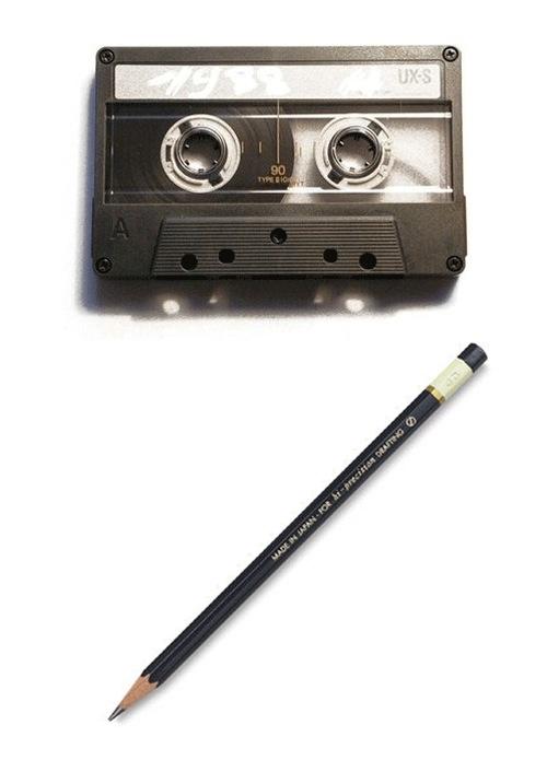 matita e musicassetta