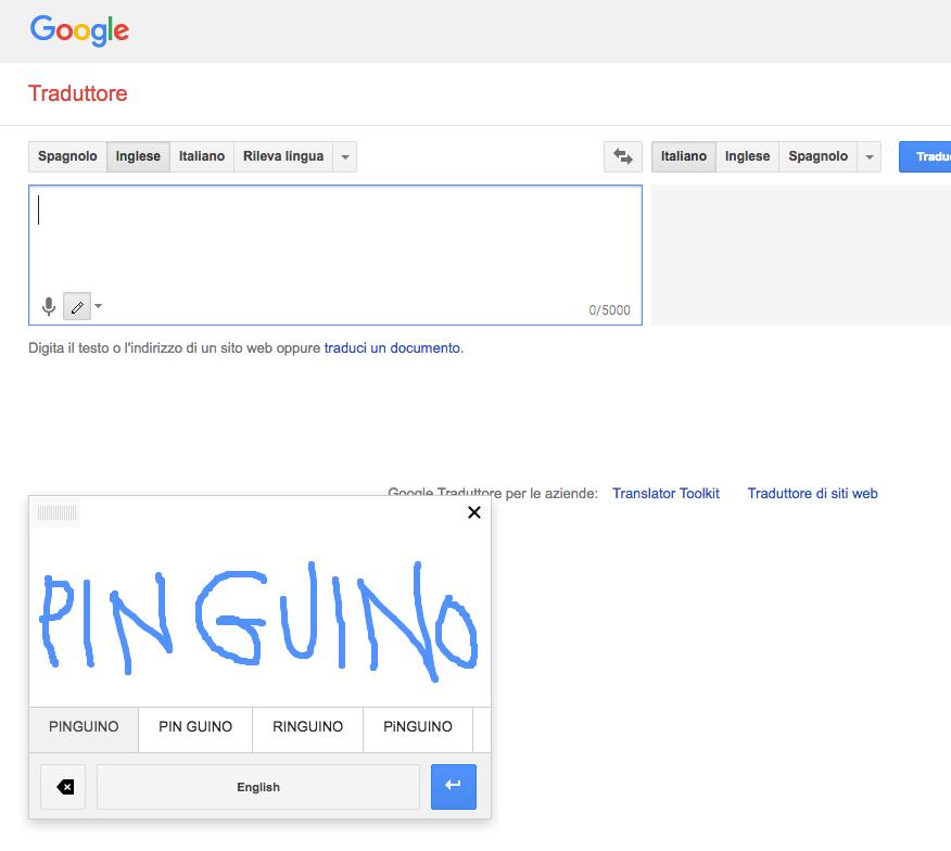 Ricerche Google scrittura a mano 2