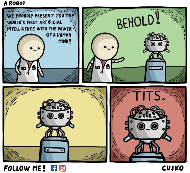 robot come noi meme