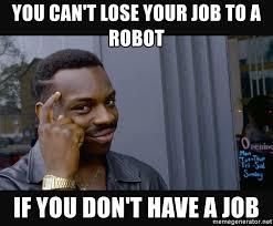 robot e lavoro meme