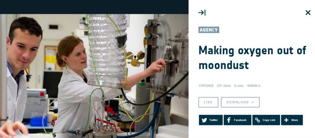 ESA making oxigen
