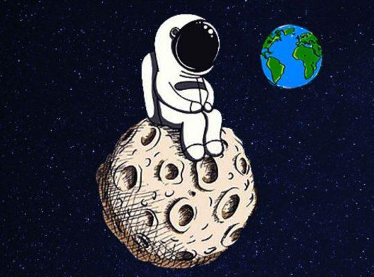 tre passi sulla luna