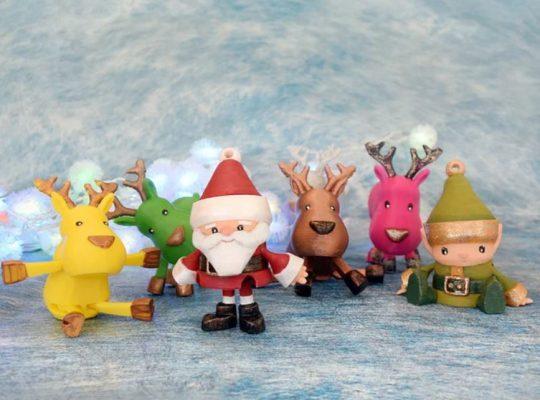 Idee da stampare in 3D per il Natale: Babbo Natale, gli elfi e le renne