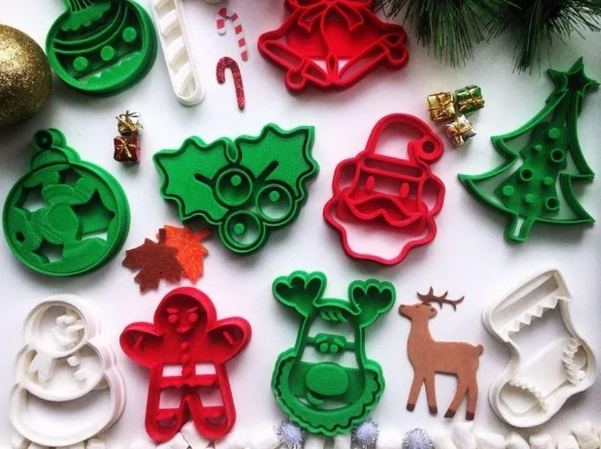 Decorazioni e idee di Natale da stampare in 3D - formine per i biscotti