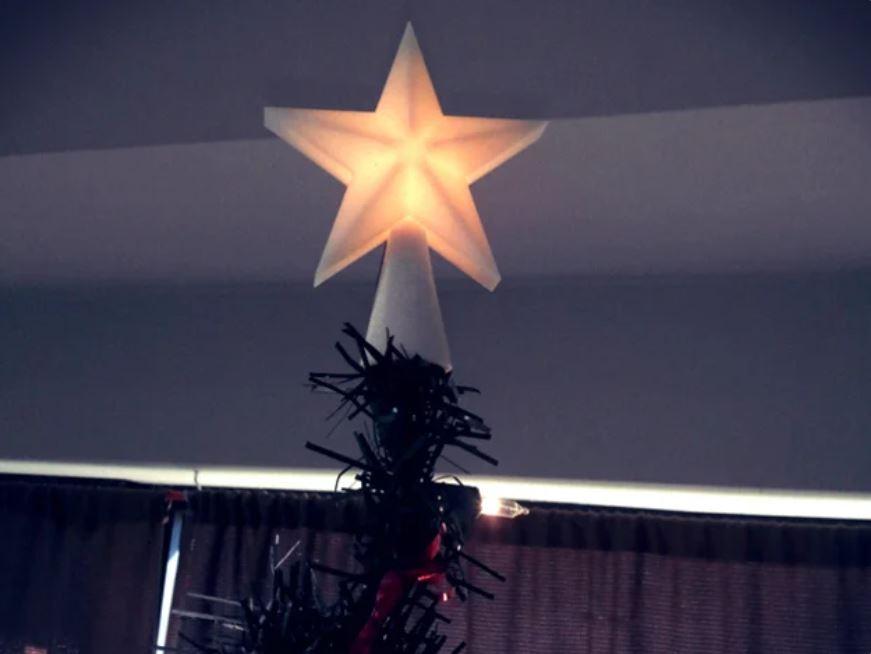 puntale per l'albero di Natale