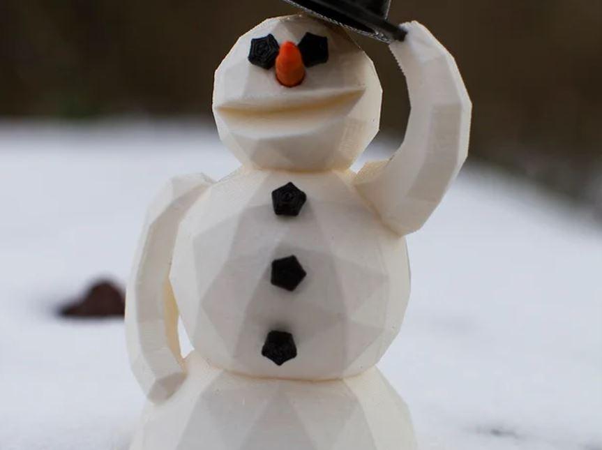 pupazzo di neve stampato in 3d