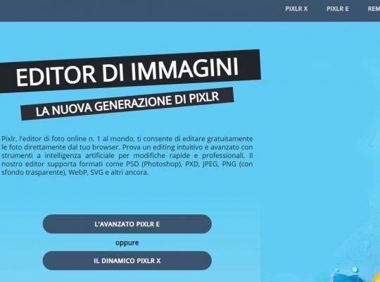 pixlr editor di foto online per creare immagini