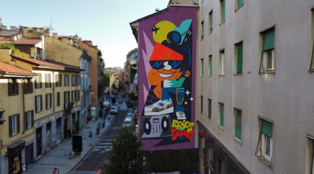 il murales di Saucony a Milano per per celebrare il 30° anniversario delle iconiche sneakers SHADOW 6000